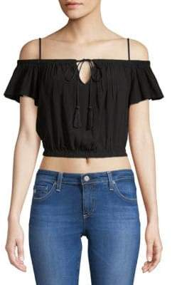 ASTR the Label Lavina Off-The-Shoulder Cropped Top