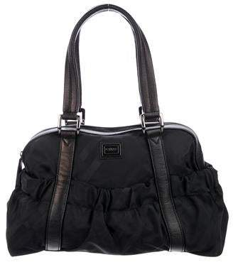 Burberry Leather-Trimmed Nylon Shoulder Bag