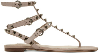 Valentino Pink Rockstud Thong Sandals $975 thestylecure.com