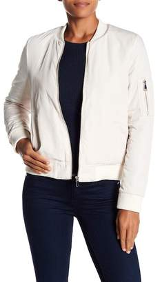 Love Token Faux Fur Lined Bomber Jacket