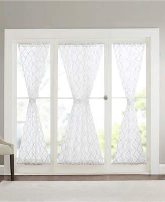 "Madison Park Irina 52"" x 72"" Embroidered Diamond Sheer Door Panel"