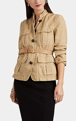 Nili Lotan Women's Cambre Cotton-Linen Field Jacket - Eggshell