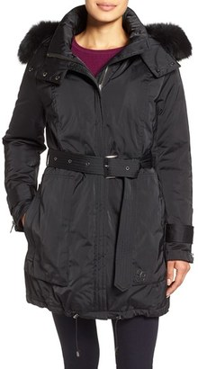 Trina Turk 'Jeri' Belted Down Parka with Genuine Fox or Coyote Fur Trim $575 thestylecure.com