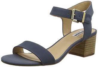 Dune Women's Izzi Ankle Strap Sandals Blue-Nubuck, 8 (41 EU)