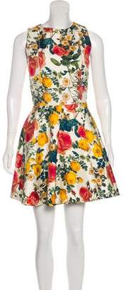 Fausto Puglisi Floral Print A-Line Dress