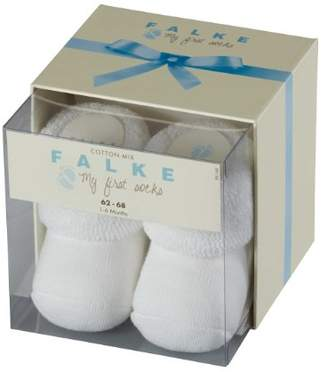 Falke Kids Erstling socks, 1 pair, UK size 0-1 month (EU 50-56), Blue, cotton mix - Soft cotton, pressure free cuff so ideal for babies