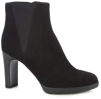 edf302f48fb at Debenhams · Geox Black Suede  Annya  Black Heel Ankle Boots