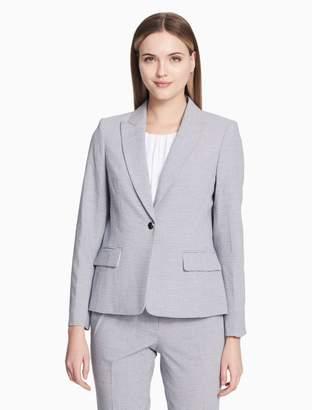 Calvin Klein seersucker one button jacket