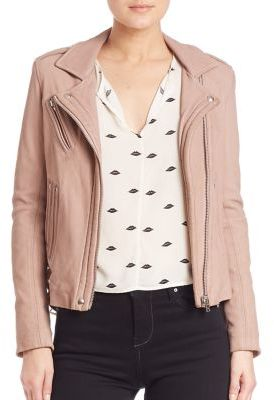 IRO Han Leather Moto Jacket $1,265 thestylecure.com