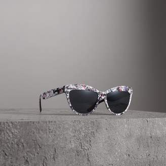 Burberry Doodle Cat-eye Frame Sunglasses