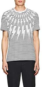 Neil Barrett Men's Lightning-Bolt-Print Cotton T-Shirt - White