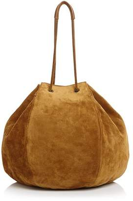Creatures of Comfort Large Convertible Suede Puff Bag