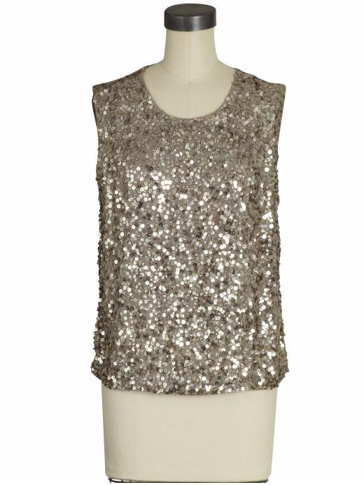 Vince Hammered Sequin Tank