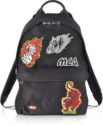 McQ Black Signature Backpack w/Patches