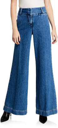 Frame Metropolitan Wide-Leg Denim Pants