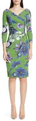 Chiara Boni Charisse Floral Print Cocktail Dress