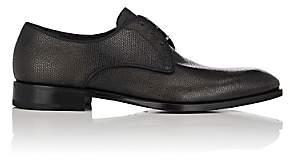 Salvatore Ferragamo Men's Charles Burnished Leather Bluchers-Black