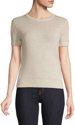 Theory Heathered Linen Cashmere-Blend Sweater