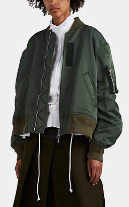 Sacai Women's Relaxed Bomber Jacket - Md. Green