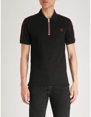Givenchy Zip-up cotton-piqué polo shirt