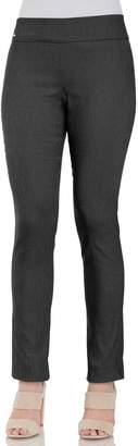 Izod Women's Everyday Herringbone Slim Pull-On Pants