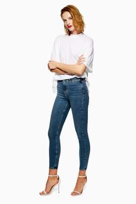 Topshop Mid Stone Pocket Detail Jamie Jeans