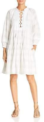 Tory Burch Plaid Lace-Up Dress