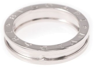 Bvlgari  Bulgari B-Zero1 18K White Gold Band Ring Size 7.75