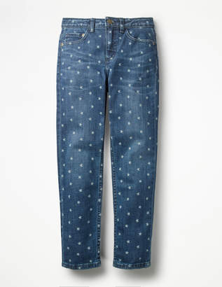 Boden Printed Girlfriend Fit Jeans
