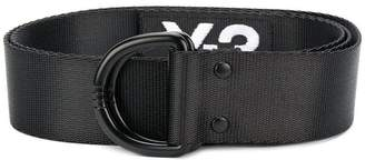 Y-3 logo D-ring buckle belt