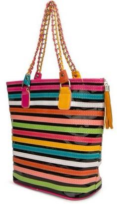 SUMACLIFE Women s Harmony Stripe Design Tote Bag 0ae0d8f809