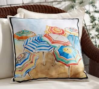 Pottery Barn Umbrella Print Indoor/Outdoor Pillow