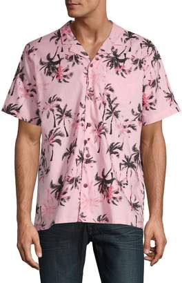 Levi's Classic-Fit Palm Tree-Print Button-Down Shirt