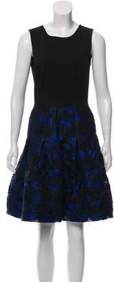 Oscar de la Renta Jacquard A-Line Dress