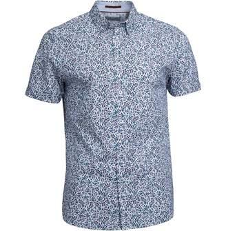 Ted Baker Mens Thorshr Short Sleeve Floral Print Shirt White