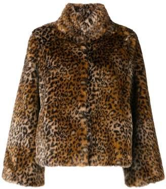 Twin-Set leopard print fur jacket