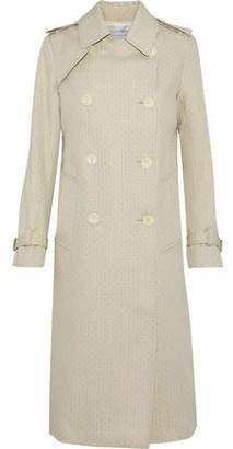 Sandro Elkya Embroidered Gabardine Trench Coat