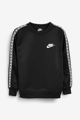 Nike Boys Repeat Long Sleeve Crew Sweater - Black