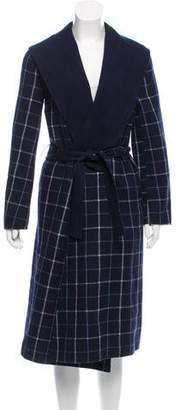 Oscar de la Renta Checkered Long Coat