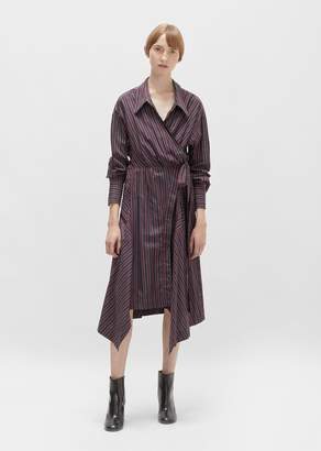 Isabel Marant Mila Cotton Asymmetrical Wrap Dress Burgundy