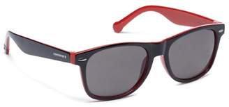 Converse Grey And Red Plastic H010 Square Sunglasses