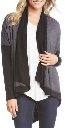 Karen Kane Double Knit Colorblock Cardigan