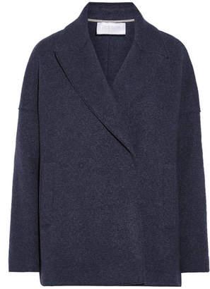 Harris Wharf London Mélange Wool-felt Coat - Storm blue