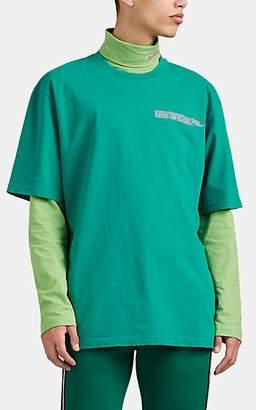 Calvin Klein Men's Logo Cotton Crewneck T-Shirt - Turquoise