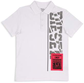 Diesel Boys' Logo Graphic Polo - Big Kid