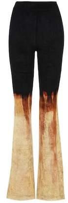 Balmain Velvet flare trousers