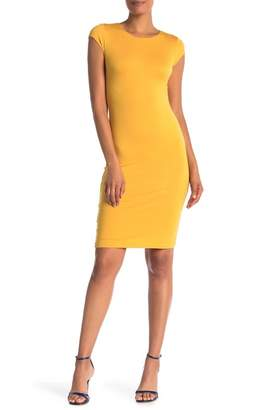 Velvet Torch Cap Sleeve Midi Dress