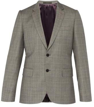 Paul Smith Price Of Wales Checked Wool Blazer - Mens - Grey Multi