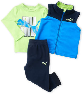 Puma Infant Boys) 3-Piece Fleece Vest & Pants Set