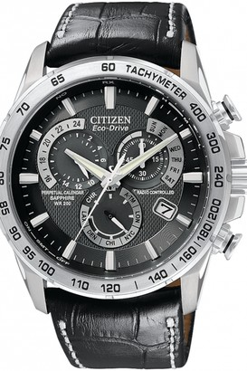 Citizen Mens Chrono Perpetual A-T Alarm Chronograph Radio Controlled Watch AT4000-02E